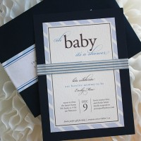 Classic Tie Baby Shower Invitation